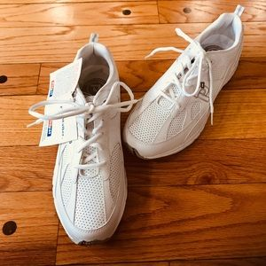 PROPET RUN WALKER FAST MENS WHITE LEATHER SNEAKERS